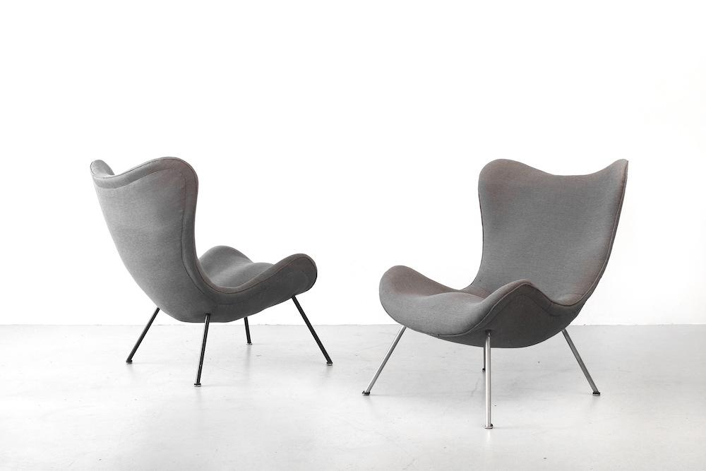 galerie bachmann zwei sessel von fritz neth f r correcta. Black Bedroom Furniture Sets. Home Design Ideas