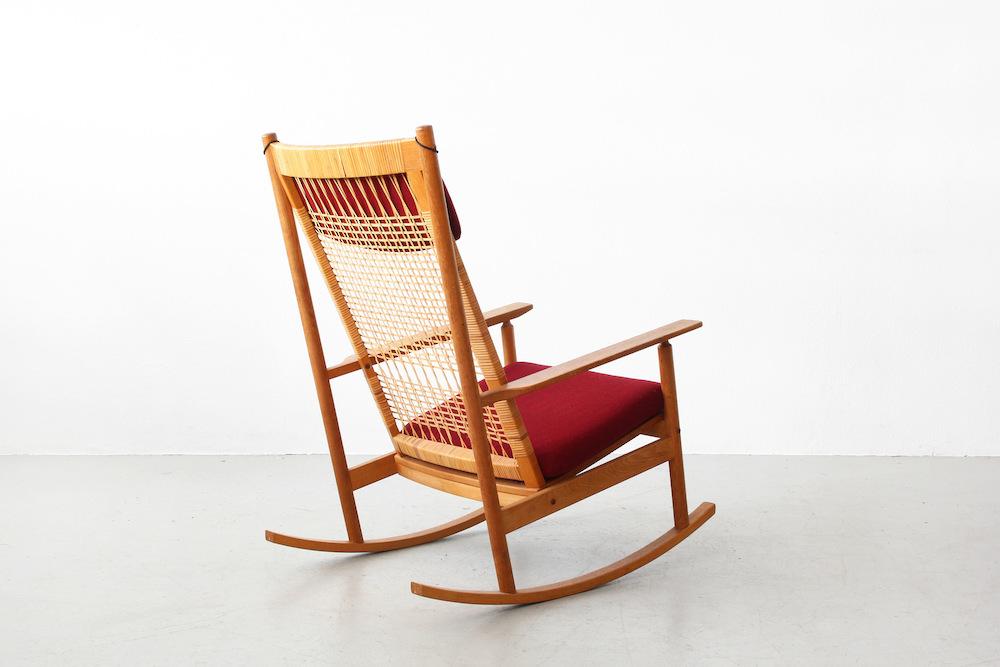Galerie Bachmann • Rocking Chair by Hans Olsen for Juul Kristensen