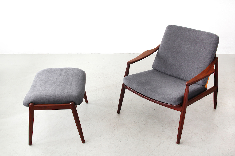 Easy Chair with Ottoman by Hartmut Lohmeyer for Wilkhahn