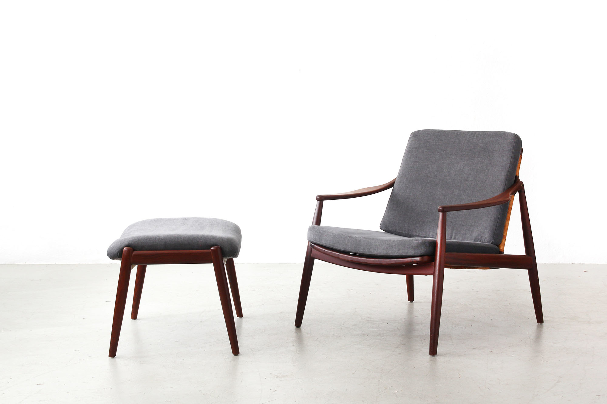 Galerie Bachmann • Easy Chair with Ottoman by Hartmut Lohmeyer for