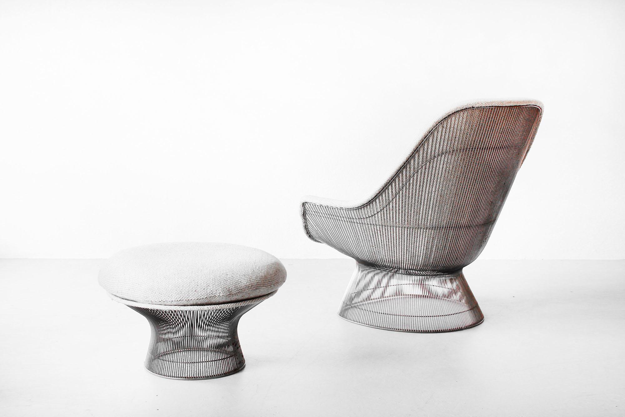 Galerie Bachmann • Lounge Chair & Hocker by Warren Platner for