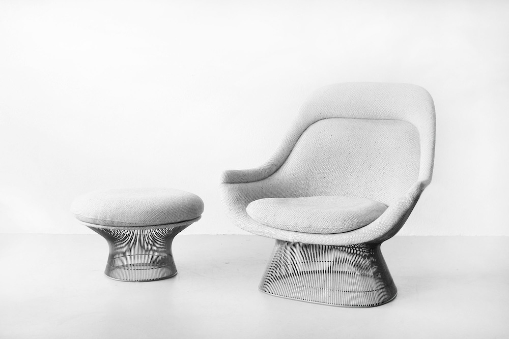 Lounge Chair & Hocker by Warren Platner for Knoll International
