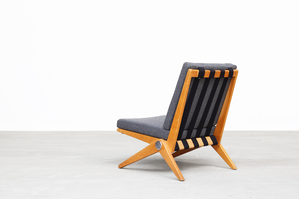 Pierre Jeanneret for Knoll International Scissor Chair Lounge Chair